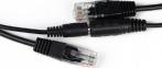 Комплект POE сплиттер + инжектор черный 0