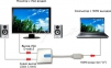 Конвертер HDMI - VGA + AUX кабель в комплекте  0