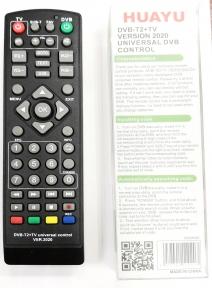 Пульт ДУ универсальный HUAYU для ресиверов DVB-T2+TV Версия 2020