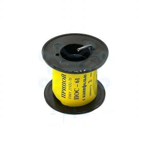 Припой ПОС-61 д.2,0 мм с канифолью катушка 50 гр