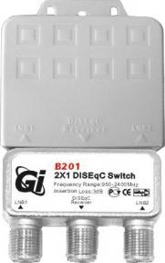 DiSEqC переключатель GI B201 (2x1)