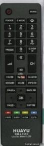 Пульт универсальный HUAYU Haier RM-L1313 Youtube, 3D LCD TV