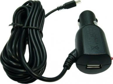 Автомобильное зарядное устройство mini USB 2A + гнездо USB шнур 3м