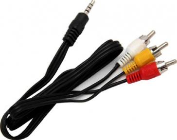НЧ-кабель Mini-Jack-3RCA