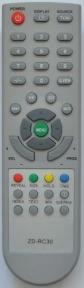 Пульт ZD-RC30 для телевизора AKIRA