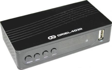 Ресивер эфирный Oriel 403D T2/C
