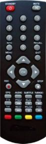 Пульт 790 960 для эфирных ресиверов ORIEL
