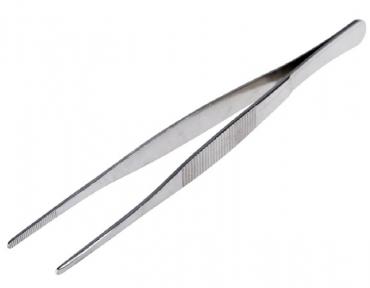 Пинцет прямой, рифлёный 200 мм 12-0368