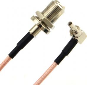 Антенный адаптер (пигтейл) CRC9-F(male) 15 см