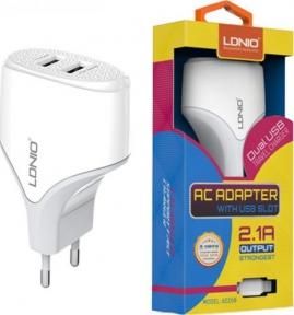 Зарядное устройство сетевое LDNIO A2268 micro USB 2,1A