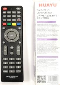 Пульт ДУ универсальный HUAYU для ресиверов DVB-T2+3 Версия 2020