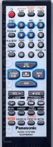 Пульт N2QAHB000037 муз.центр 5 дисков для видеотехники PANASONIC