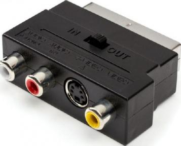 Переходник SCART-RCA с переключателем