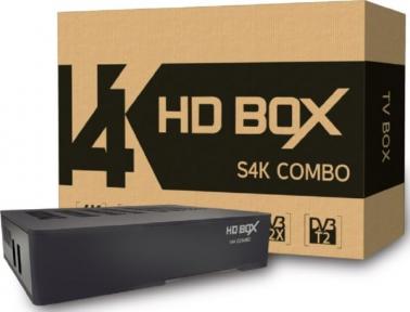 Ресивер HD Box S4K Combo S2/T2