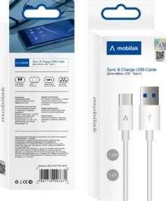 DATA Кабель USB - TYPE-C PVC 3A 1М