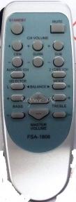 Пульт RC 117, FSA 1806 AUX для BBK