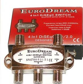 DiSEqC переключатель EuroDream GTP-4100S
