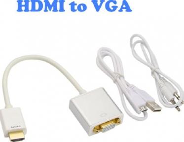 Конвертер HDMI - VGA + AUX кабель гнездом microUSB
