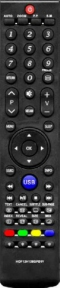 Пульт HOF12H126GPD11 черная кнопка USB для телевизора SUPRA