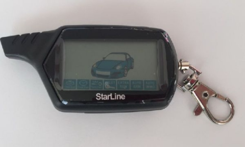 Брелок к автосигнализации LCD  StarLine B9 старая модель, черный корпус