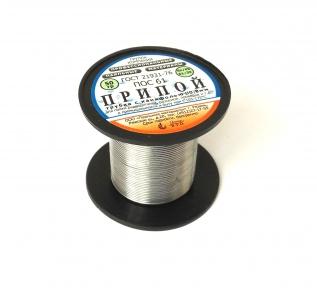 Припой ПОС-61 д.0,8 мм с канифолью катушка 50 гр