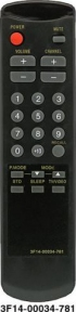 Пульт 3F14-00034-781 для телевизора SAMSUNG