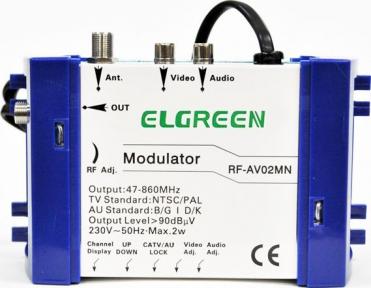 Модулятор Elgreen RF-AV02MN
