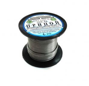 Припой ПОС-61 д.1,0 мм без канифоли катушка 100 гр