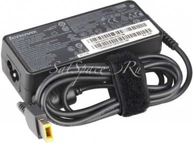 Блок питания для ноутбука LENOVO 20V 4,5A штекер питания прямоугольный + сетевой кабель