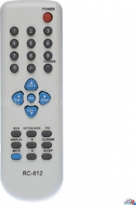 Пульт RC-812 для телевизора ELENBERG