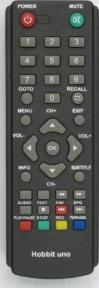 Пульт UNO DVB-T2 (меню на кнопке CC/P) для ресиверов HOBBIT
