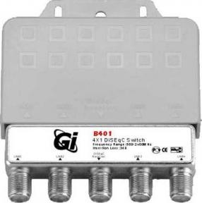 DiSEqC переключатель GI В-401 4x1 в корпусе