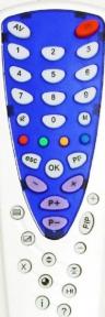 Пульт RC-6-1 (серебристо-синий корпус) для телевизора ВИТЯЗЬ