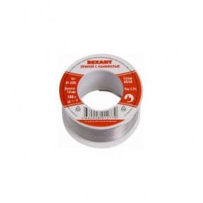 Припой на катушке Sn60 Pb40 Flux 2.2% с канифолью 1мм, 100 гр