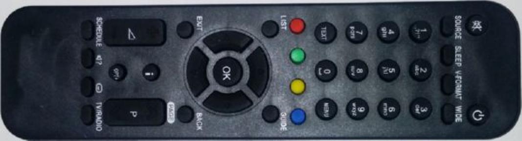 Пульт RM-G01 НТВ+ ЛАЙТ-VA-4SD для спутниковых ресиверов HUMAX