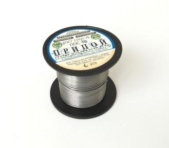 Припой ПОС-40 д.1,0 мм с канифолью катушка 100 гр