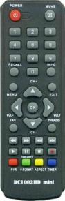 Пульт DC1002HD mini DVB-T2 для эфирных ресиверов D-COLOR