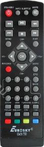 Пульт ES-11 DVB-T2 для ресивера Eurosky