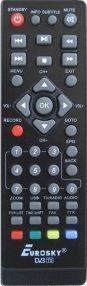 Пульт ES-12 DVB-T2 для ресиверов EUROSKY