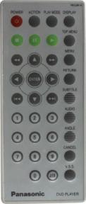 Пульт VEQ2414 DVD оригинальный для видеотехники PANASONIC