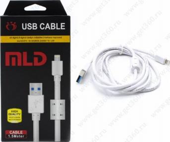 Кабель USB-microUSB, 1,5 м, USB 2,1A, с фильтром