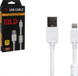 USB кабель для Iphone 5, 5S, 5C, 6, 6 1,5м белый