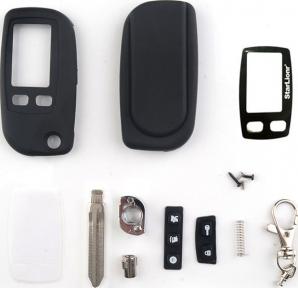 Корпус брелка + смарт ключ Tomahawk TW9010, TW9020, TW9030