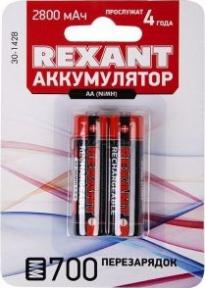 Аккумулятор Rexant AA 1.2V, 2800 mAh 2 шт