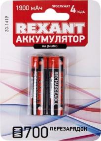 Аккумулятор Rexant AA 1.2V, 1900 mAh 2 шт