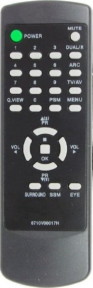 Пульт 6710V00017H для телевизора LG