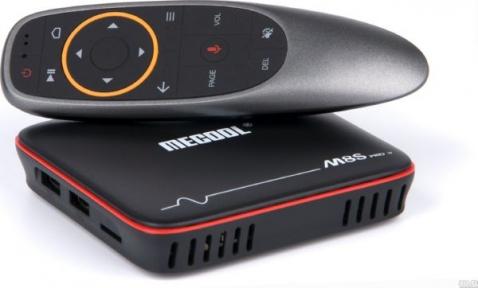 Smart тв приставка Mecool M8S plus w голосовой поиск