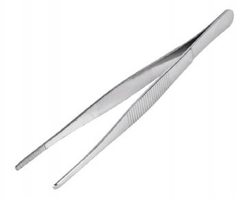 Пинцет прямой, рифлёный 160 мм 12-0366