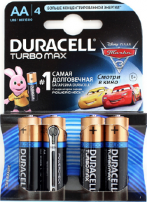 Элемент питания LR6 Duracell Turbo 1500