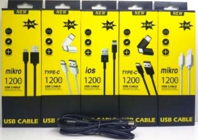 DATA Кабель USB - TYPE-C PVC 2.4A 1.2 М